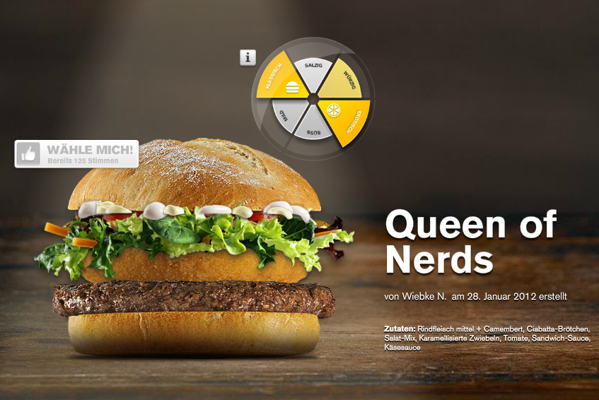 Queen of Nerds - Mein Burger 2012 McDonalds